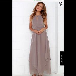 Lulus Taupe Bridemaid Dress